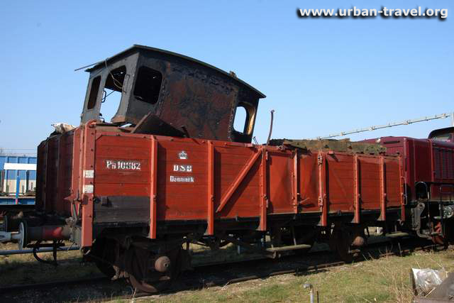 Photo of Old steamtrain on dump in Denmark