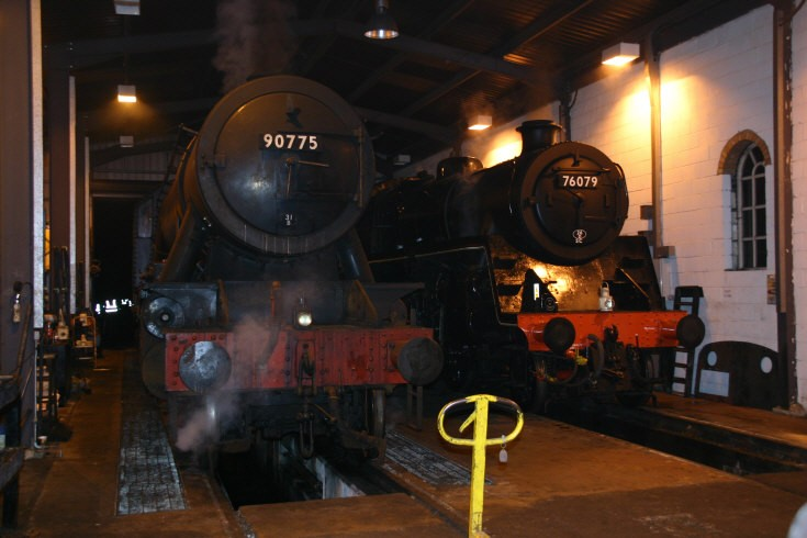 On shed are WD 90775 and BR 4MT 76079