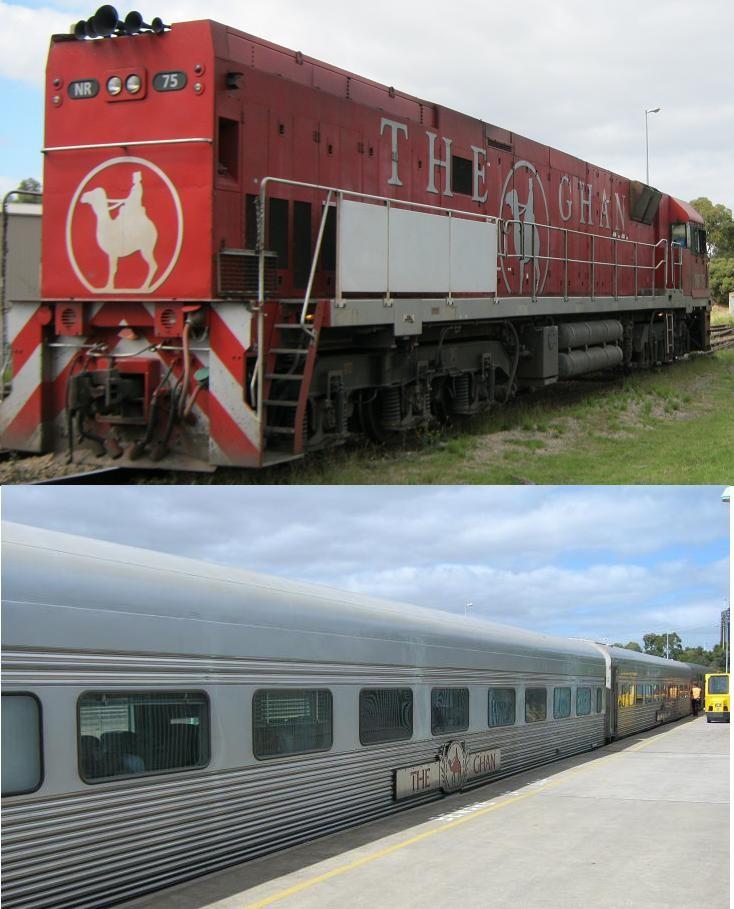 The Ghan Passenger Train Locomotive Australia