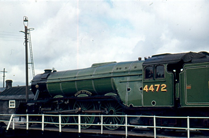 Photo of the steam locomotive 4472 Flying Scotsman