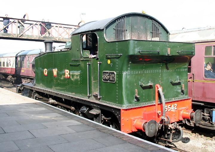 GWR Prairie tank 4575 class 2-6-2T 5542