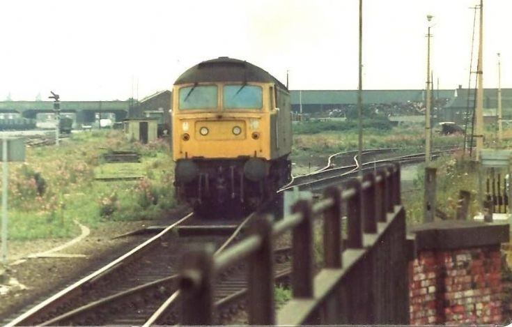 Class 47 leaves Frodingham TMD in 1980