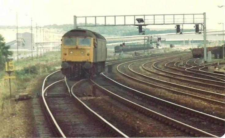 Class 47 heads East past Frodingham Trent Jcn
