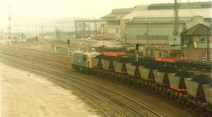A clean Class 56 heads East through Scunthorpe