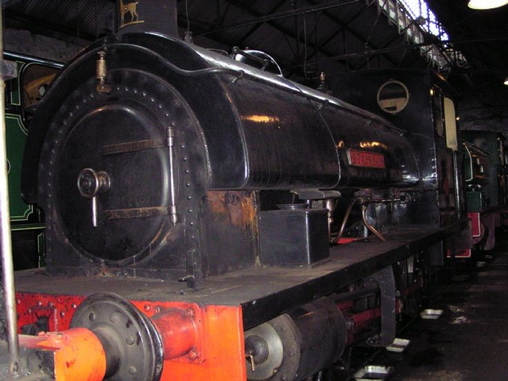 0-6-0ST Stagshaw on shed