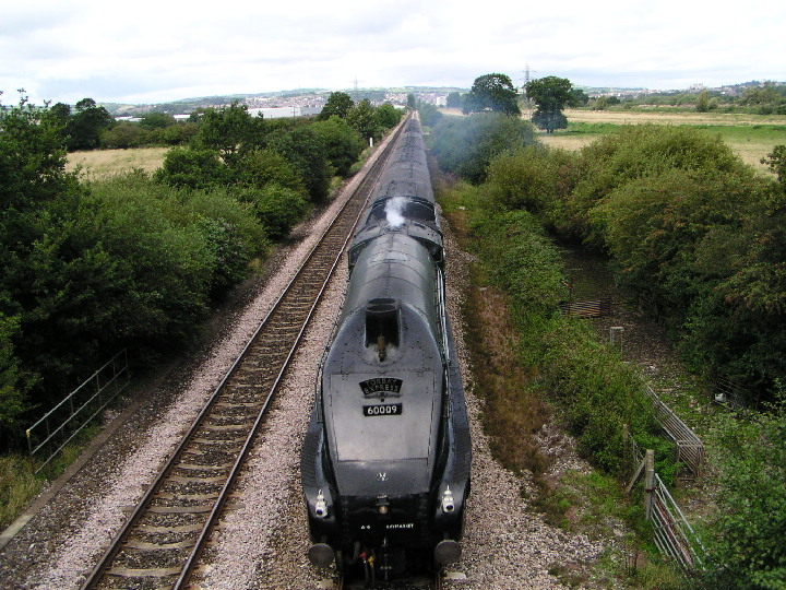 A4 60009 on the approach to Exminster in Devon
