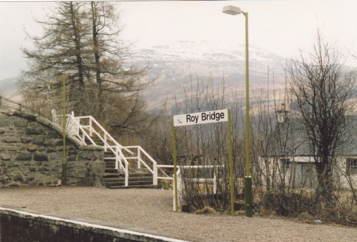 Roy Bridge Station Sign