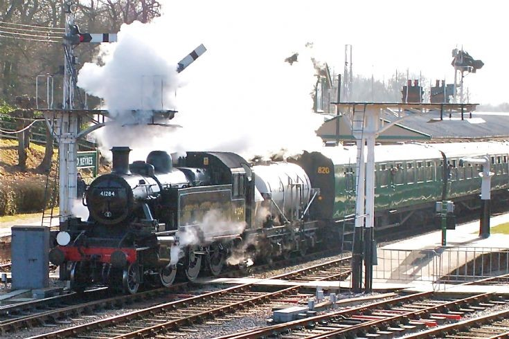Ivatt 2 at Horsted Keynes