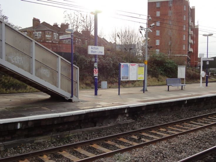 Acton Main Line station sign