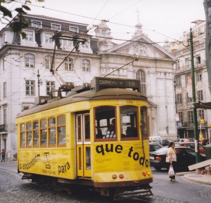 Lisbon allover advertisement tram