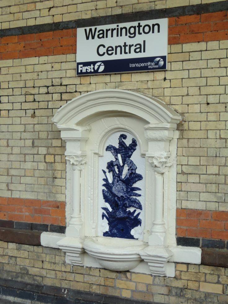 Warrington Central Station Sign