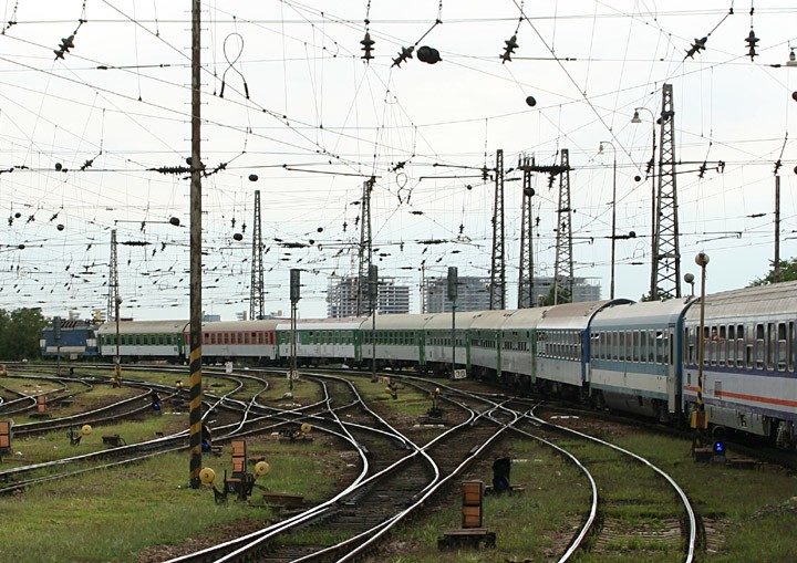 Train to Krakow departing Bratislava