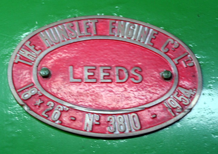 Hunslet 0-6-0ST Glendower Works Plate