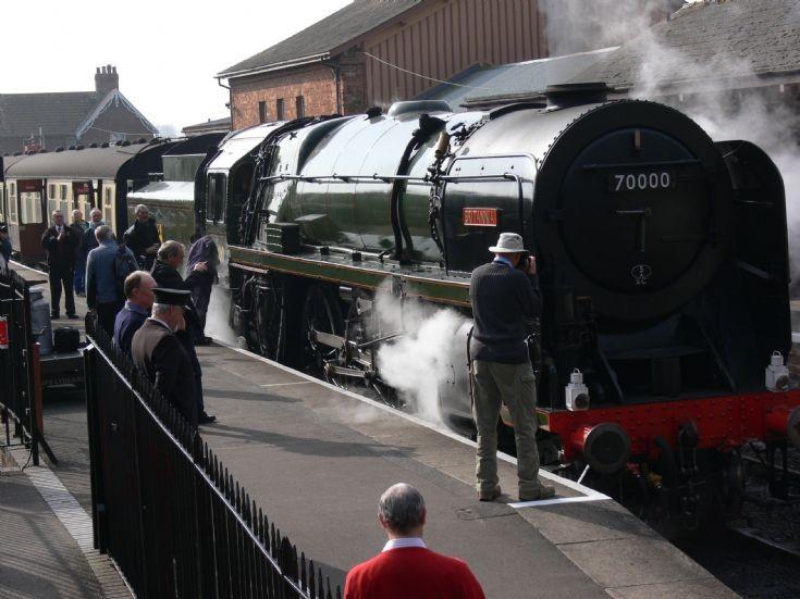 70000 Britannia at West Somerset Spring Gala