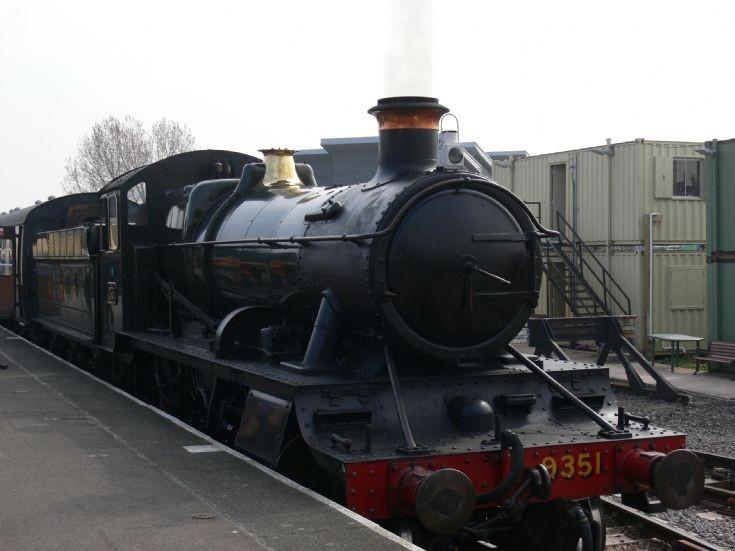 Steam locomotive 9351 at Minehead