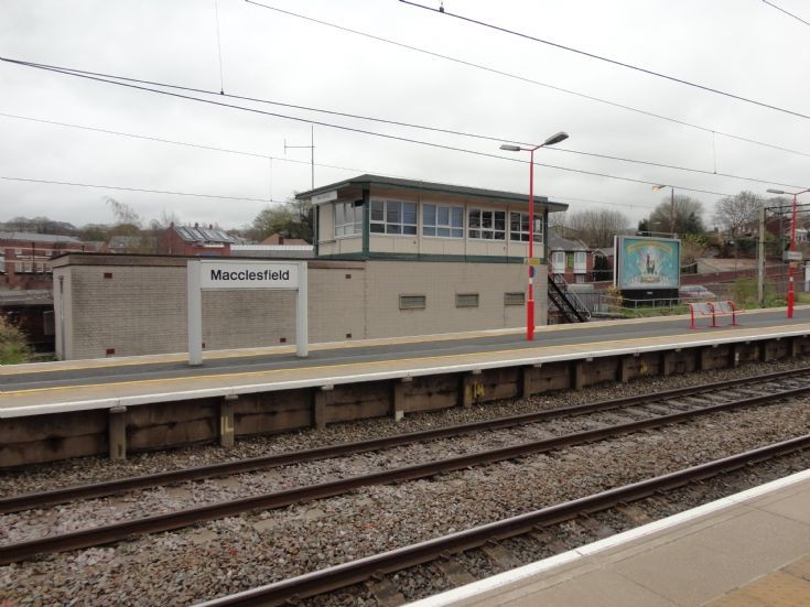 Macclesfield Station Sign (and Signal Box)