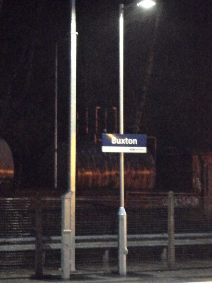 Buxton Station Sign