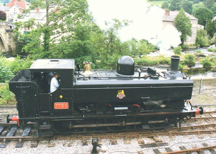 Steam locomotive 7754 at Llangollen Railway