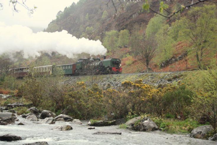 Steam locomotive at Welsh Highland Railway