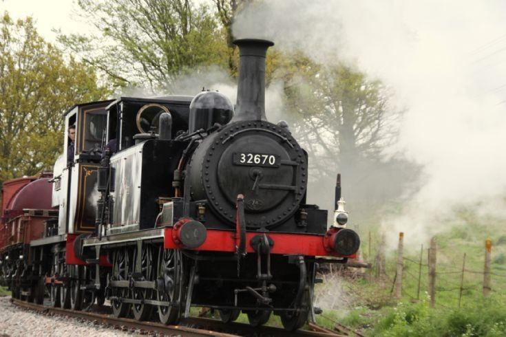 Steam locomotive 32670 at Kent & East Sussex