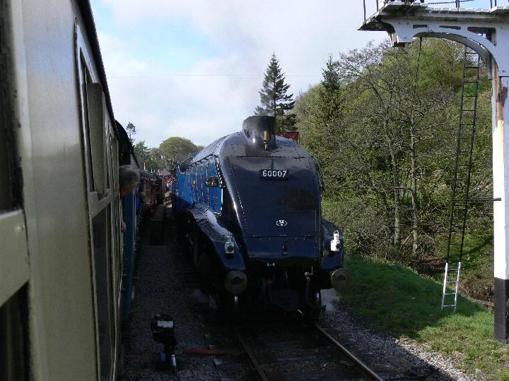 A4 60007 Sir Nigel Gresley at Goathland on 28 Apr