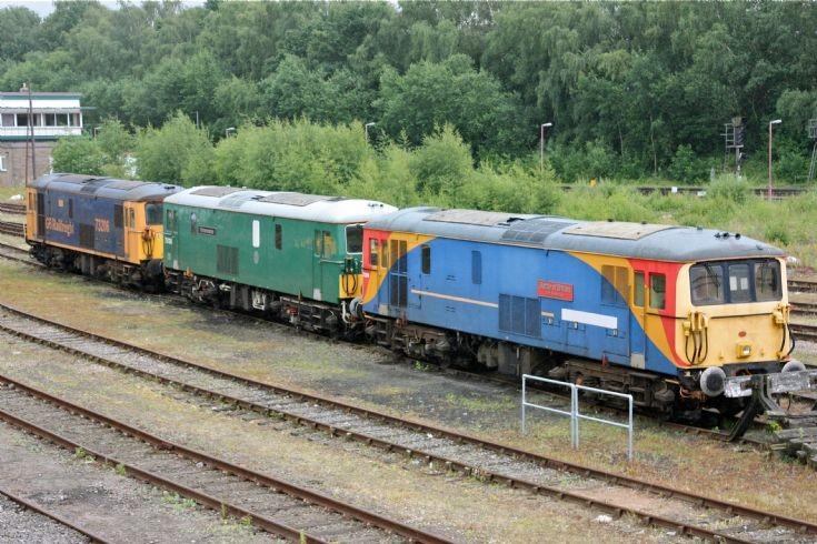 Class 73's at Tonbridge Yard.