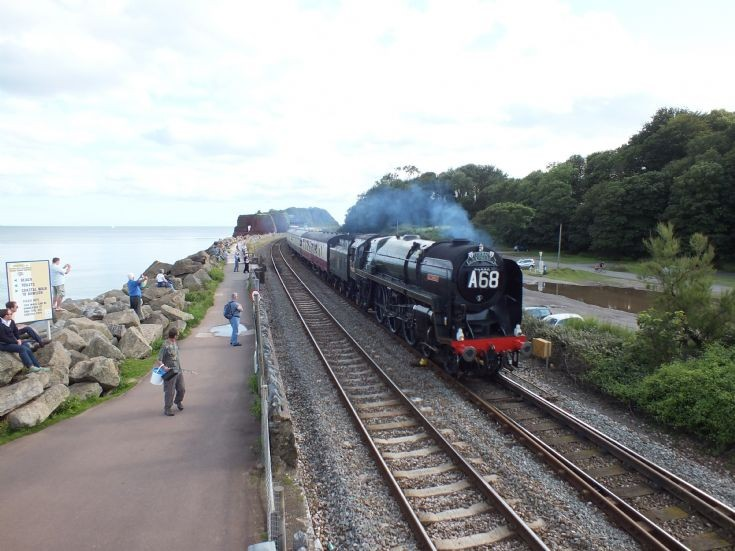 Approaching the old Dawlish Warren Station