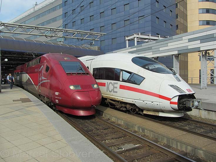 ICE and TGV Brussels