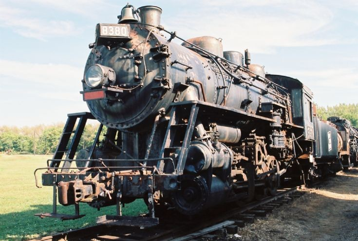 old steam engines at train museum