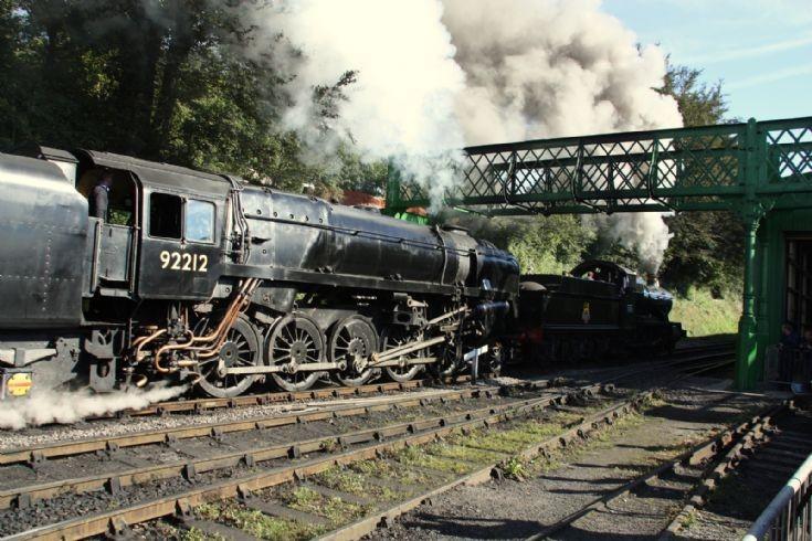 Mid Hants Railway 5322 and 92212