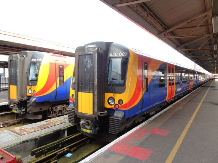 South West Trains Class 450 at Portsmouth Harbour