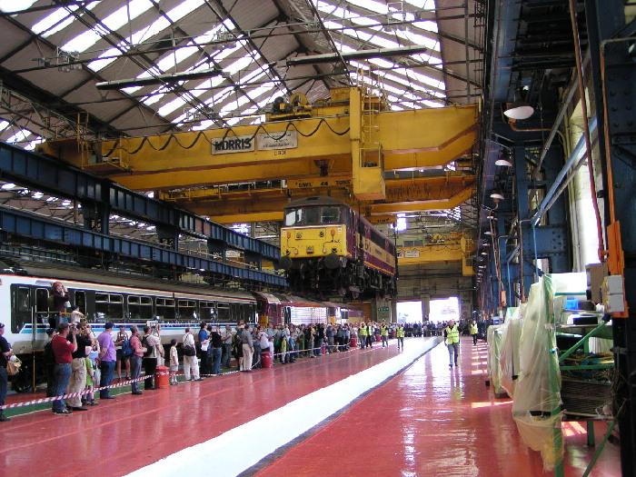Locomotive lift at Crewe works