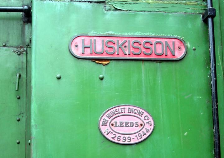 Hunslet Diesel-Mechanical shunter works plate