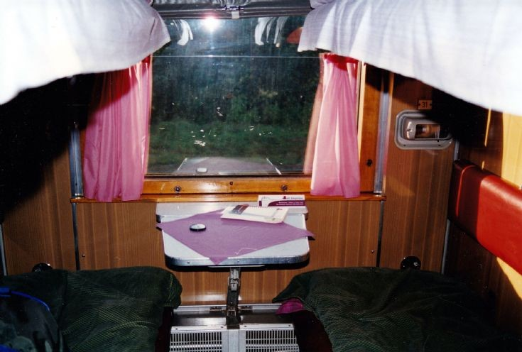 Sleeper car Lithuanian railways