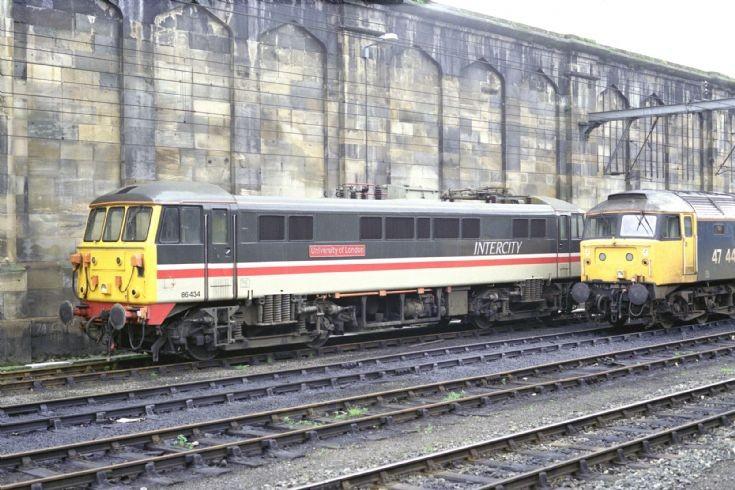 BR Class 86 (86434) Carlisle 1988.