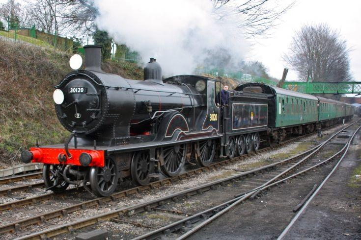 30120 at Ropley