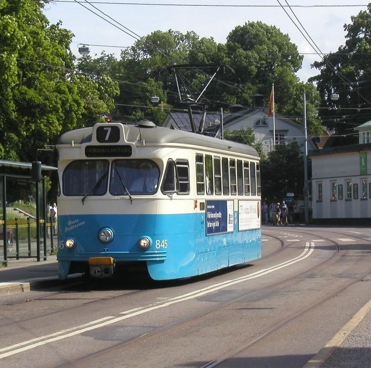 Tram number 845