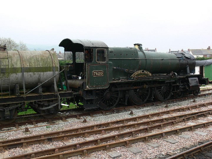 7820 DinmoreManor at Minehead awaiting overhaul