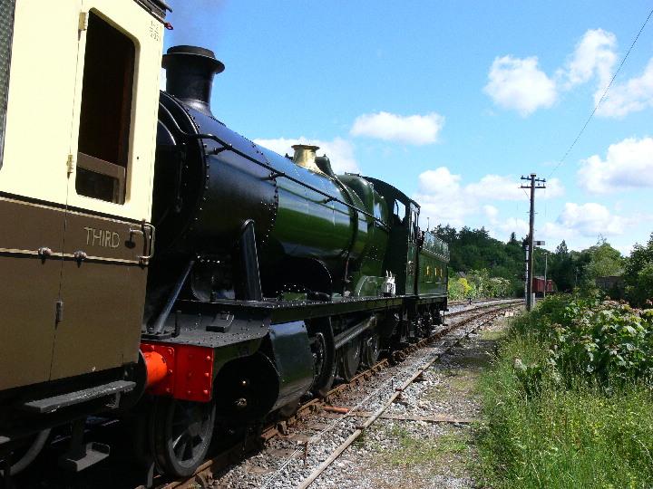 3803 Leaving Staverton for Totnes on the SDR