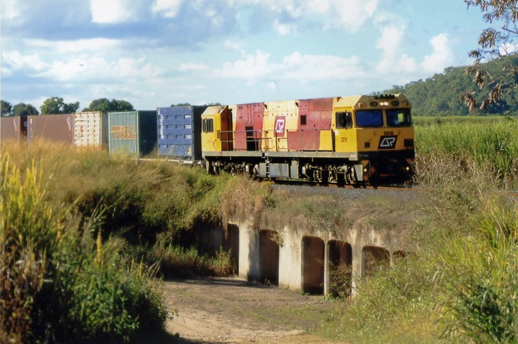 Freight train at Gordonvale, Queensland