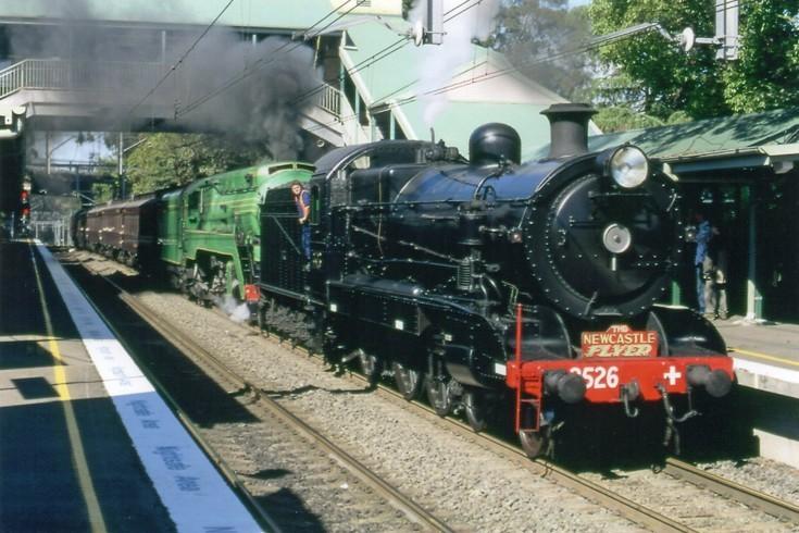 Steam locomotives at Thornleigh, NSW