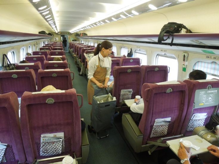 Taiwan High Speed Rail train interior