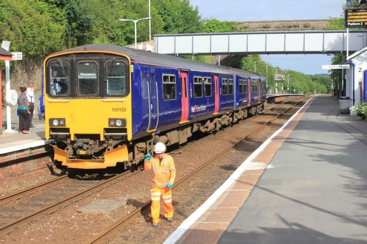 150 122  to Penzance workman to Plymouth