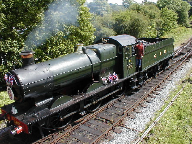 3205 going off train at Buckfastleigh in 2002.