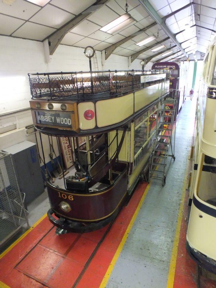 106 London Transport in the workshop