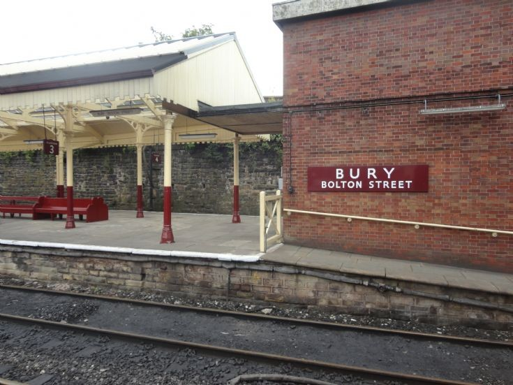 Bury (Bolton Street) station sign