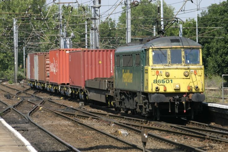 Wider view of the containers with 86501