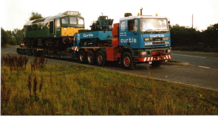 D7659 on the move in Staffordshire, England