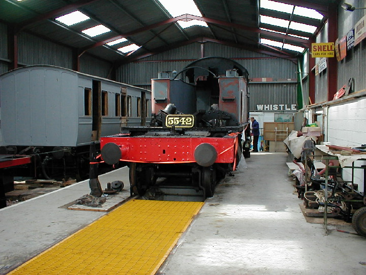 GWR Prairie 5542 under overhaul in 2001