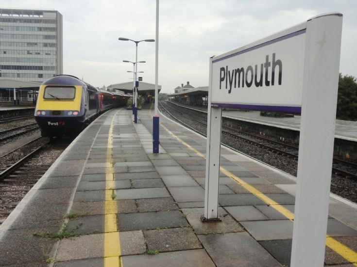 Plymouth station sign